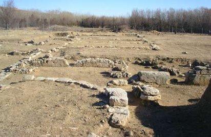 Restos arqueológicos de La Malena en Azuara