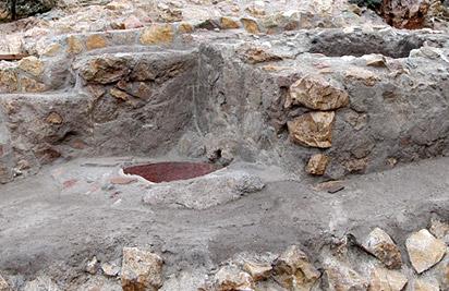 Baño doméstico perteneciente a la casa V de la judería medieval de Lorca